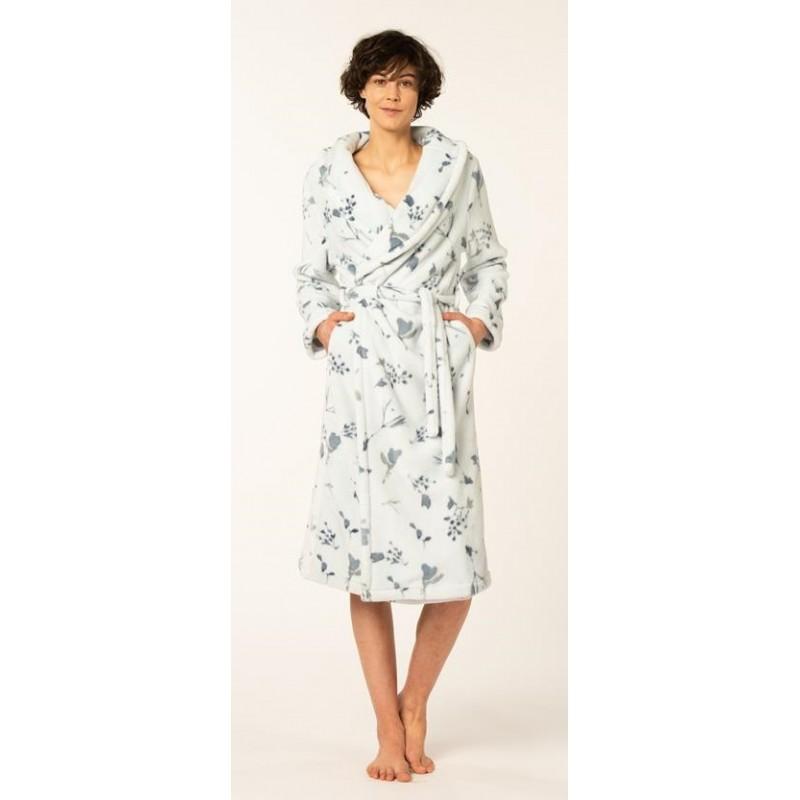 Ladies homewear bathrobe dressing gown peignoir fleece winter