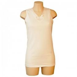 women's shirt wool entex without sleeve