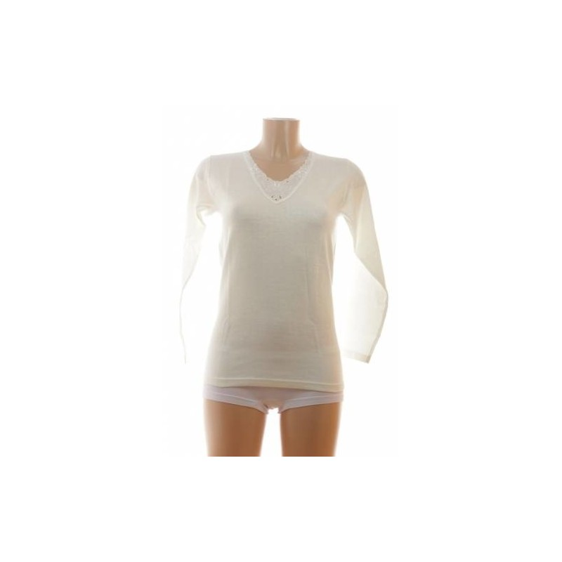 entex thermo long sleeve wool ladies