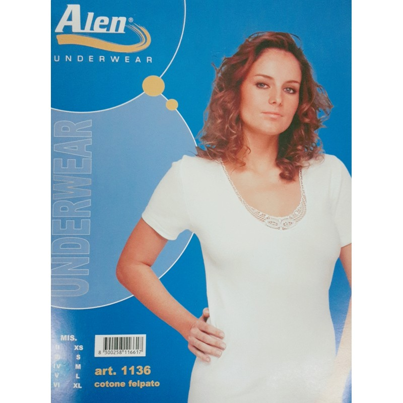 Alen-ladies shirt-short-sleeved-molton-cotton-thermo