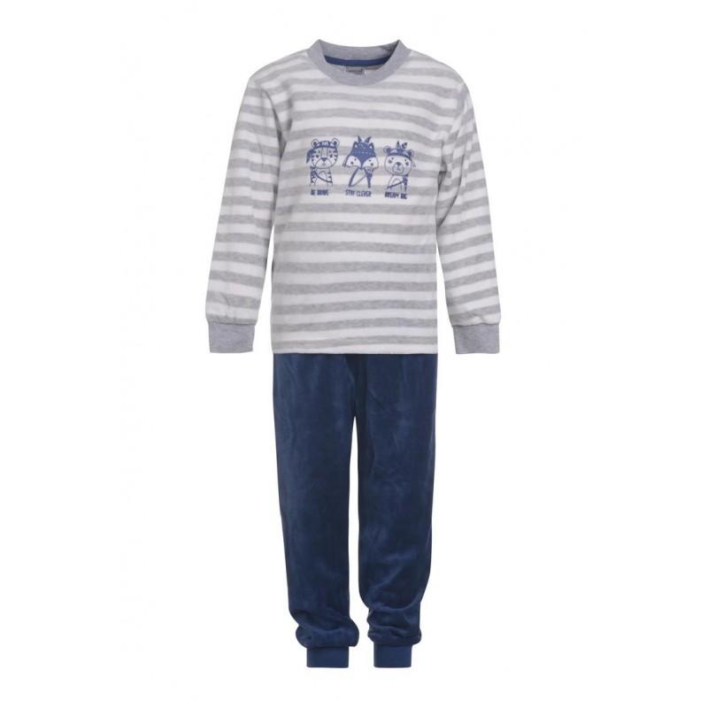 kinderen-jongens-outfitter-nikki-velours-spons-kleuter-pyjama-homewear