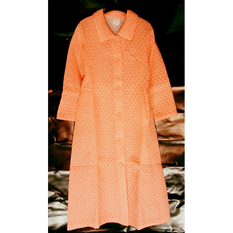 Classic women's room coat with buttons