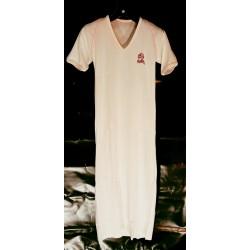 Nachtkleed V hals wit