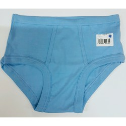 classic men's underpants with opening light blue