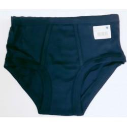men's underpants with slit dark blue