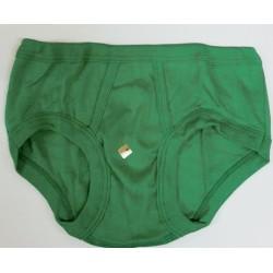 men's slip with opening vintage green