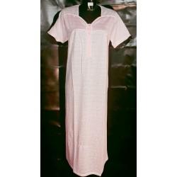 Dames-nachtkleding-korte mouwen-nachtkleed-knoopjes