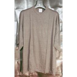 oversized-t-shirt-antraciet-grijs-korte-mouw-grote-maten-hoge-nek