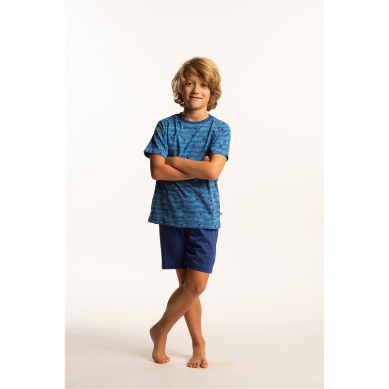 Eskimo-jongens-shortama-pyjama-korte-broek-mouw-octopus